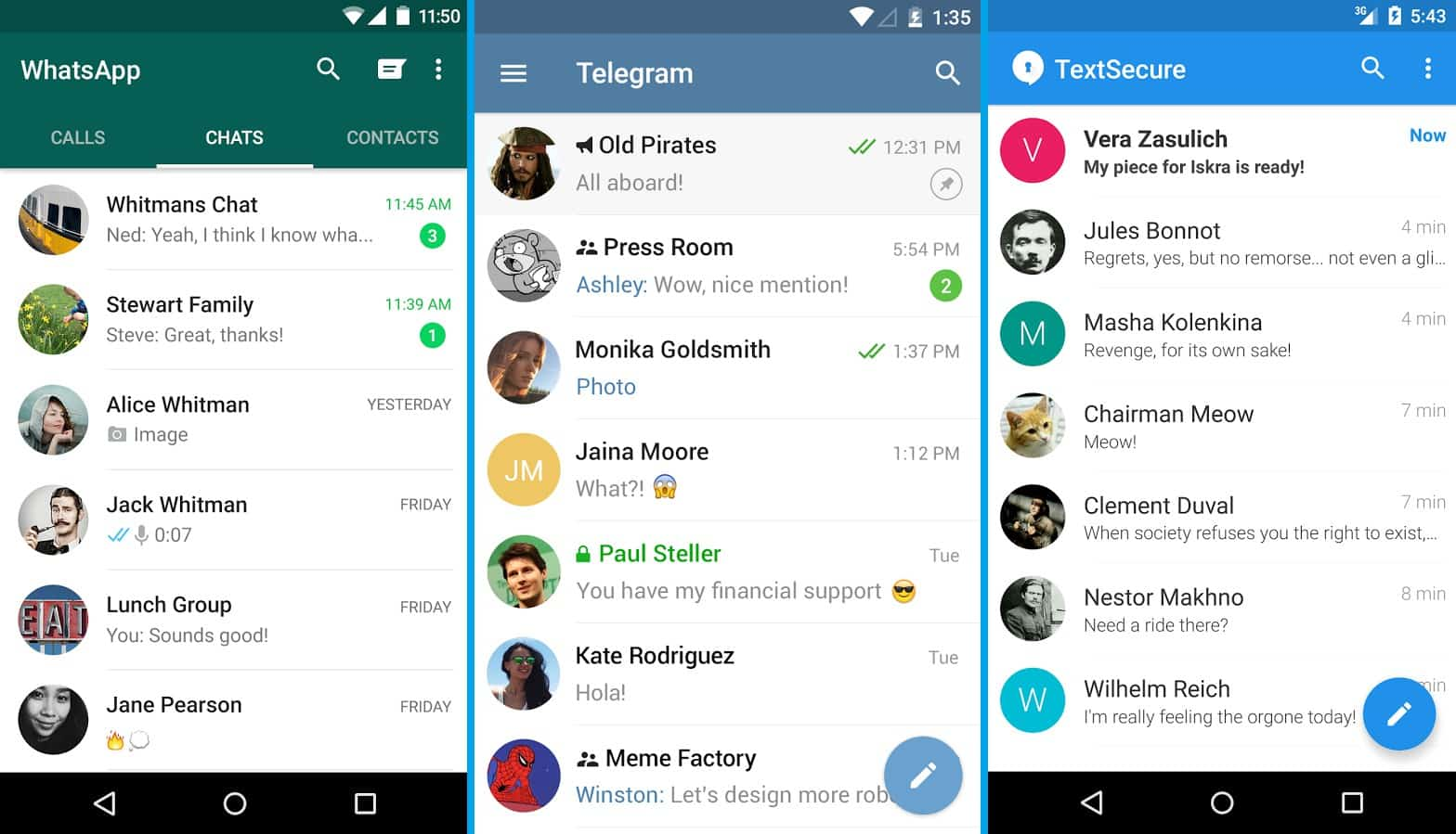 ▷ WhatsApp vs Telegram vs Signal: ¿cuál servicio de chat elegir? 2021